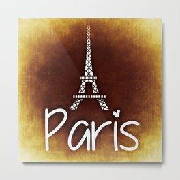 Paris, France (Eiffel Tower) Metal Print