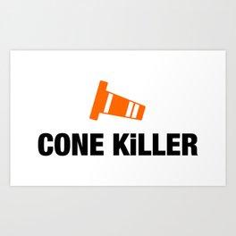 Cone Killer v4 HQvector Art Print