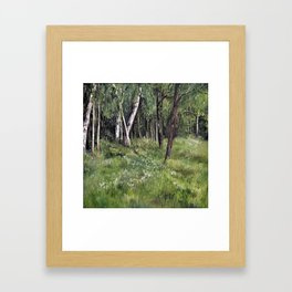 Woodland Forest Landscape Nature Art Framed Art Print