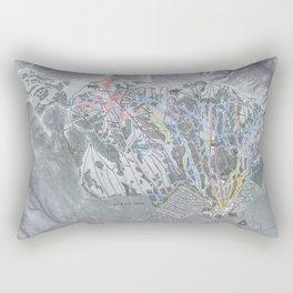 Jackson Hole Mountain Resort Trail Map Rectangular Pillow