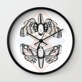Polillas Wall Clock