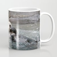 otter Mugs featuring Otter by RMK Creative