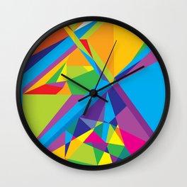 bright abstraction 3 Wall Clock
