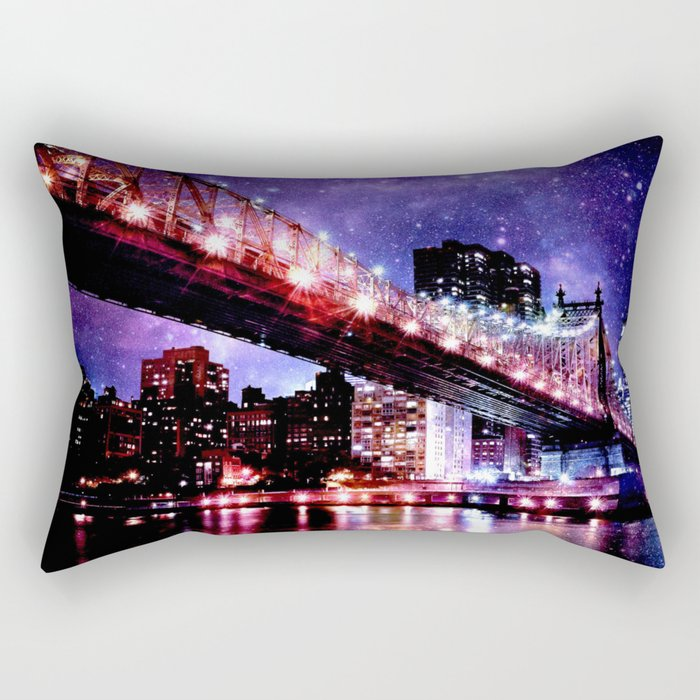 Majestic New York City: Manhattan Bridge Rectangular Pillow
