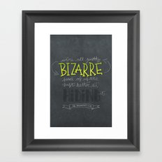 Breakfast Club: We're All Pretty Bizarre Framed Art Print