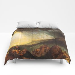 "J. M. W. Turner ""Snow Storm - Hannibal and his Army Crossing the Alps"" Comforters"