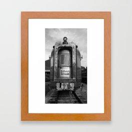 Silver Streak Framed Art Print