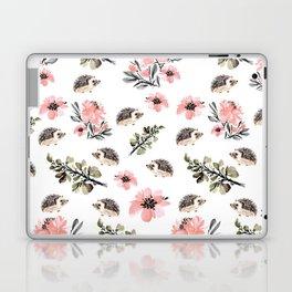 Floral hedgehog Laptop & iPad Skin