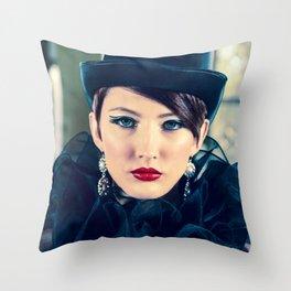 4979 Boudoir Lady Mistress Throw Pillow