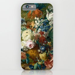 """Jan van-Huysum """"Flowers in a Vase with Crown Imperial and Apple Blossom"""" iPhone Case"""