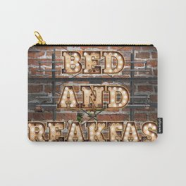 Bed and Breakfast -  Wall-Art for Hotel-Rooms Carry-All Pouch
