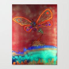 Bad Ash Mothra Funker Full (Wobblesauce) Canvas Print