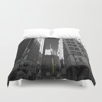 detroit Duvet Covers featuring Detroit  by Galaxys_Limit