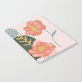Retro Peony Notebook