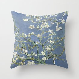 Almond Blossom - Vincent Van Gogh (blue pastel) Throw Pillow