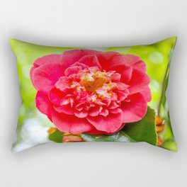 The Lost Gardens of Heligan - Red Camellia Rectangular Pillow