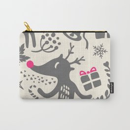 Holiday Reindeer Carry-All Pouch
