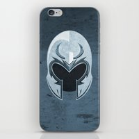 magneto iPhone & iPod Skins featuring Magneto by Tony Vazquez