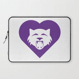 Wildcat Mascot Cares Purple Laptop Sleeve