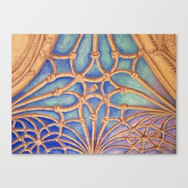 Geometry in the cloister Canvas Print