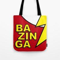 bazinga Tote Bags featuring Bazinga by Bazingfy