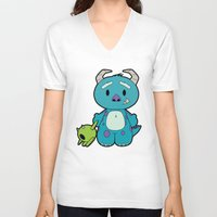 monster inc V-neck T-shirts featuring Hello Monster by Pimator24