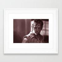 daryl Framed Art Prints featuring Daryl  by Jim Gallo