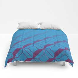 Squares in Blue Comforters