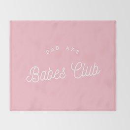 BADASS BABES CLUB PINK Throw Blanket