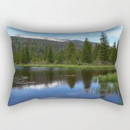 Peaceful Beaver Ponds View Rectangular Pillow