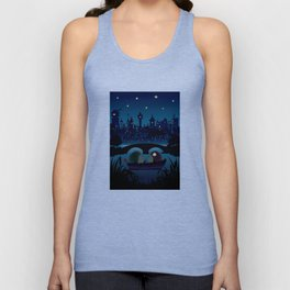 Hedgehogs in the night Unisex Tank Top
