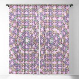 Kaleidoscope Finger Spinners Mandala Pattern Sheer Curtain