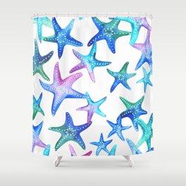Watercolor Starfish Shower Curtain