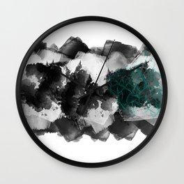 Splash of Teal Wall Clock