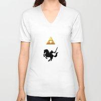 legend of zelda V-neck T-shirts featuring Legend Of Zelda by Kesen