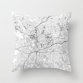 Atlanta White Map Throw Pillow
