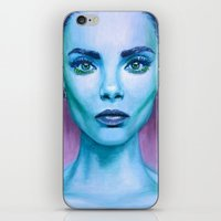 cara iPhone & iPod Skins featuring Cara by Stella Joy