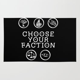 Divergent - Choose Your Faction (White) Rug