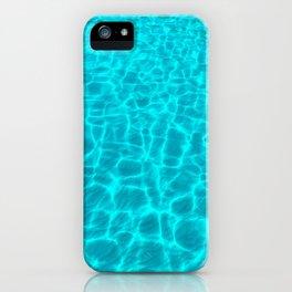 crystal blue sea iPhone Case