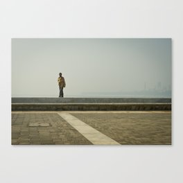 Walk along the Sea Canvas Print