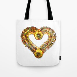 magma heart Tote Bag