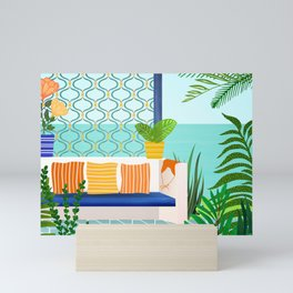 Sanctuary - Tropical Garden Villa Mini Art Print