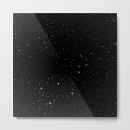 BLACK STARRY SKY Metal Print