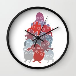 Lumps (Blue & Red) Wall Clock
