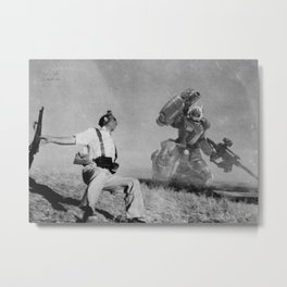 The Falling Soldier 1 Metal Print