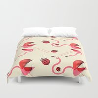 matisse Duvet Covers featuring There are always coconuts for those who want to see them by Lorena G
