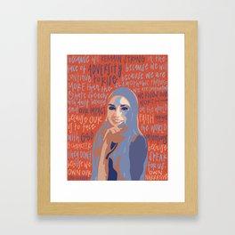 Isra Chaker. Framed Art Print