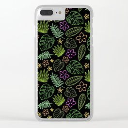 Tropical Neon Clear iPhone Case