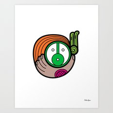 Green Child - Niño Verde Art Print
