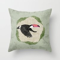 toucan Throw Pillows featuring Toucan by Aquamarine Studio